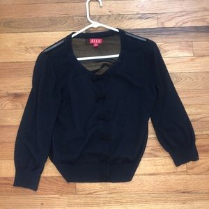 ELLIE Black button up bows blouse